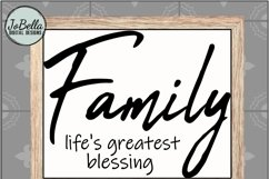 Family Life's Greatest Blessing SVG, Sublimation PNG & Print Product Image 4