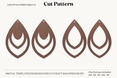 Earrings SVG Template, Silhouette Cut Files, Cricut Product Image 3