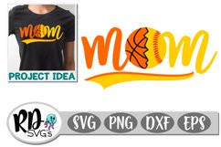 Basketball Softball Mom - A Sports Cricut Cut File Product Image 1