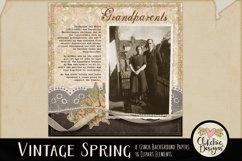 Digital Scrapbook Kit - Vintage Floral Scrapbooking Clipart Product Image 4