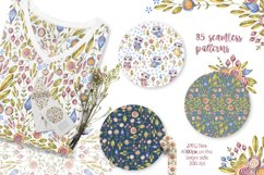 Cute owls clipart. Watercolor collection with floral forest Product Image 9