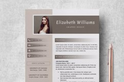 Resume Template   CV Cover Letter - Elizabeth Williams Product Image 1