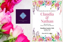 Pink Peony Watercolor Wedding Invitation Product Image 3
