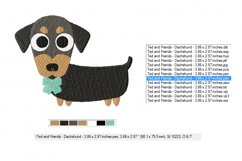 Dachshund Embroidery Designs in 2 sizes Product Image 2