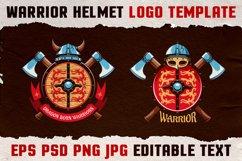 Warrior Viking Helmet Logo Template Product Image 2