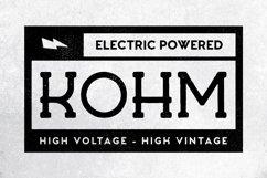 Kohm - Vintage Font Product Image 1