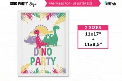Dinosaur party Welcome Signs, Printable Dinosaur Signs Product Image 1