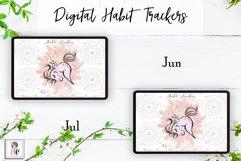 Digital Habit Trackers Y8 Yoga Series for Planner PRINTABLE Product Image 5