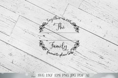 Together Is Our Favourite Place To Be Family Name Sign SVG Product Image 2