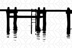 Pier Onesie Design, SVG, DXF, EPS Vector files for use with Cricut or Silhouette Vinyl Cutting Machines Product Image 2