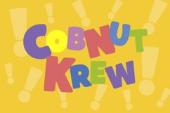 Cobnut - a nutty, bold and fun font Product Image 4