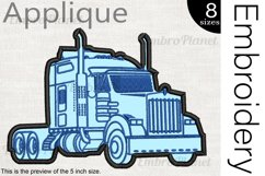 Applique Truck - Embroidery Files - 1495e Product Image 1