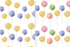 Watercolor balloons Product Image 3