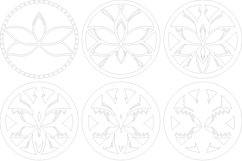 Layered Mandala SVG, Cut file Mandala, Flower mandala, Lotus Product Image 5