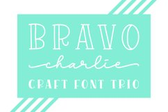 Bravo Charlie - Font Trio- Product Image 1