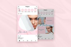 Beauty Pink Instagram Canva Tempates Post & Highlights Product Image 6