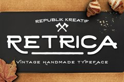 Retrica Typerface Product Image 1