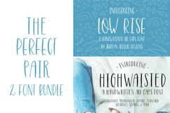 The Perfect Pair, Highwaisted and Low Rise Font Bundle Product Image 1