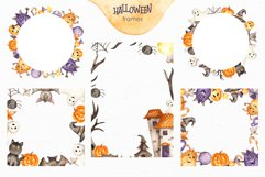 Halloween Watercolor. Clipart, cards, patterns, frames Product Image 4