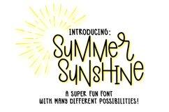 Summer Sunshine Hand Lettered Font Product Image 1