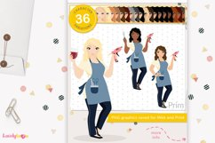 Crafty woman character clipart LVC60 Prim Product Image 1