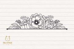 Flower Wreaths SVG Bundle , Flower monogram cut file Product Image 4
