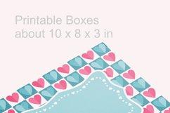 Blue Valentine Printable Rectangular Treat Boxes PDF PNG Product Image 3
