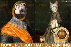 MEGA BUNDLE Royal Pet Portrait templates Digital pet Product Image 3