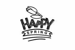 Happy Spring SVG. Spring Sign SVG. Floral Spring Product Image 2