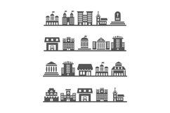 Modern urban city landscapes on white background Product Image 1