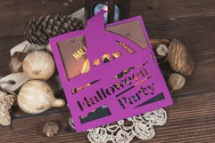 Halloween Party Witchs Hat Invitation cutting file Product Image 1