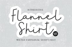FLANNEL SHIRT a Farmhouse Christmas Script Product Image 1