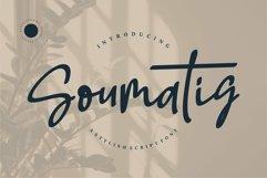 Web Font Soumatis - A Stylish Script Font Product Image 1
