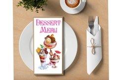 Ice cream and dessert watercolor clipart,dessert menu Product Image 4