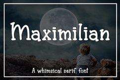Maximilian - A whimsical serif font Product Image 1