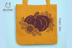 Floral Pumpkin svg, Halloween Floral Decor, Fall svg Product Image 4