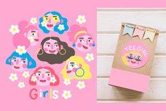 Girls PORTRAITS & patterns set Product Image 6