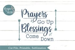 Prayers Go Up SVG, png, eps, sublimation, printable Product Image 4