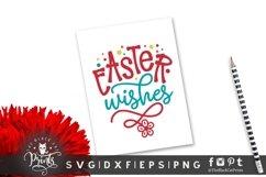 Easter Wishes SVG | Easter SVG | Floral Easter SVG Cut File Product Image 4