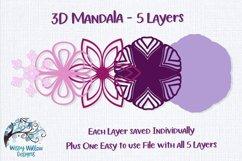 3D Mandala Bundle | 3D Layered Mandala SVG Bundle Product Image 8