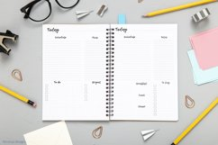 Undated daily planner's sheets. Printable A5 pages Product Image 3