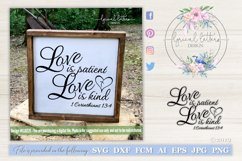 Love Is Patient Love is Kind 1 Corinthians 13 SVG DXF LL022E Product Image 1