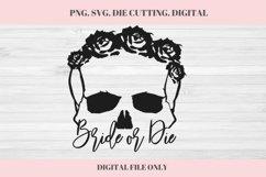 Bride or Die SVG, Wedding, Wedding SVG, Bride or Die, Skull Product Image 1