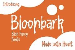 Web Font Bloonbark - Blob Fancy Font Product Image 1