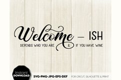 Welcome-ish SVG Porch Sign SVG Front Door Decor SVG Welcome Product Image 3
