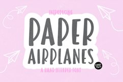PAPER AIRPLANES Bold Sans Font Product Image 1