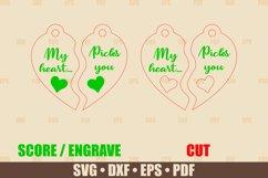 Keychain SVG Glowforge file, My Heart Picks You Keychain SVG Product Image 2