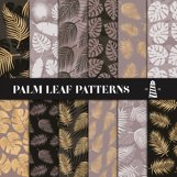Brown & Gold Palm Leaf Patterns Product Image 1