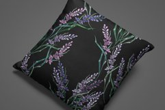 Embroidery style lavender flowers pattern Product Image 2