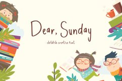 Dear Sunday Kidss Display Font Product Image 1